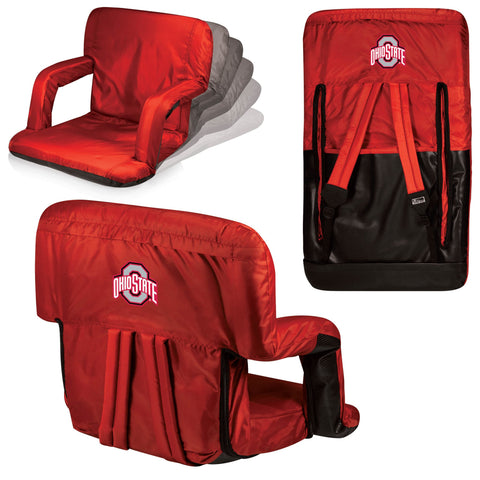 Ohio State Buckeyes Ventura Seat Portable Recliner Chair in Red