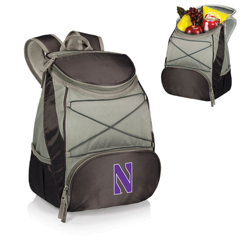 Northwestern Wildcats PTX Backpack Cooler in Black