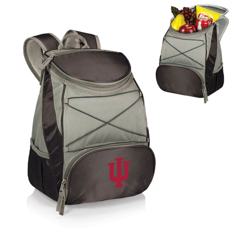 Indiana Hoosiers PTX Backpack Cooler in Black