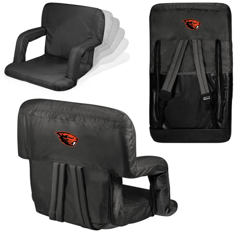 Oregon State Beavers Ventura Seat Portable Recliner Chair in Black