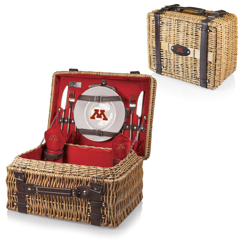 Minnesota Golden Gophers Champion Picnic Basket in Red