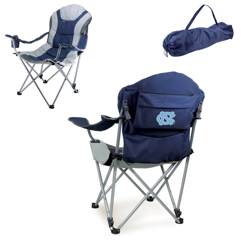 North Carolina Tar Heels Reclining Camp Chair in Navy