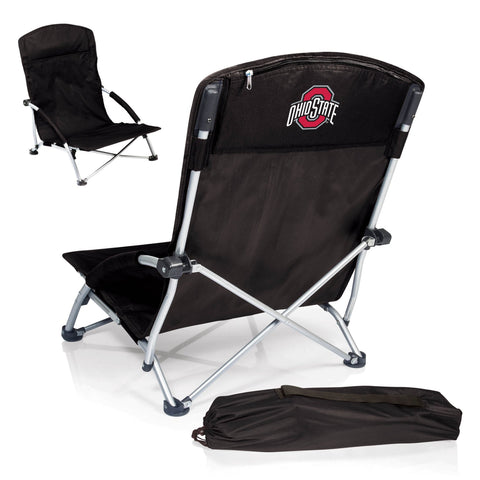 Ohio State Buckeyes Tranquility Portable Beach Chair in Black