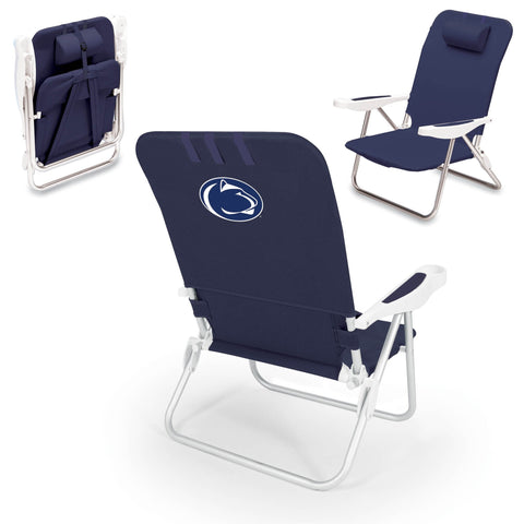 Penn State Nittany Lions Monaco Portable Beach Chair in Navy