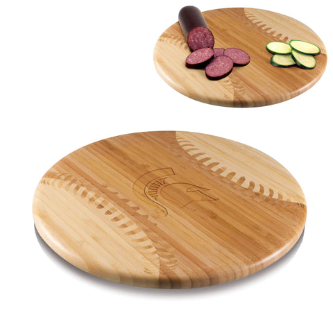 Michigan State Spartans Homerun! Bamboo Cutting Board