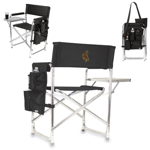 Wyoming Cowboys Sports Chair in Black