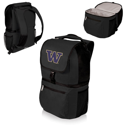 Washington Huskies Zuma Cooler Backpack in Black