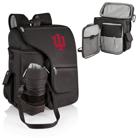 Indiana Hoosiers Turismo Cooler Backpack in Black