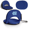 North Carolina Tar Heels Oniva Seat Portable Recliner Chair in Navy