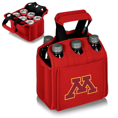 Minnesota Golden Gophers Six Pack Beverage Carrier in Red