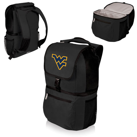 West Virginia Mountaineers Zuma Cooler Backpack in Black