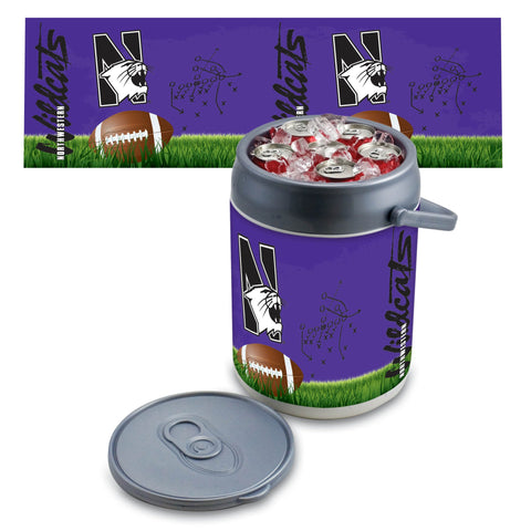 Northwestern Wildcats Can Cooler in Football Design