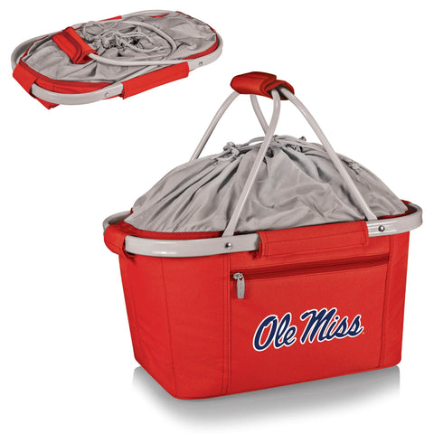 Ole Miss Rebels Metro Basket Collapsible Tote in Red