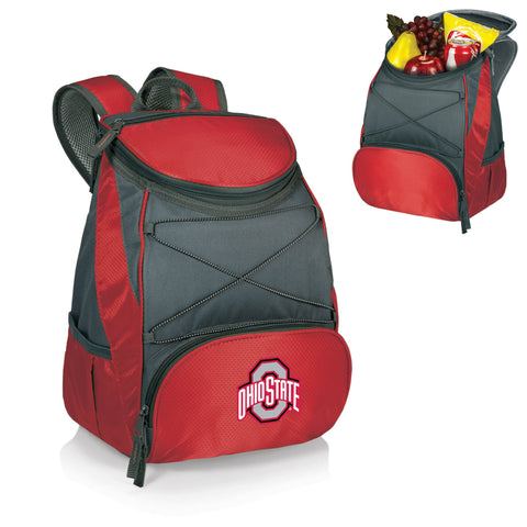 Ohio State Buckeyes PTX Backpack Cooler in Red
