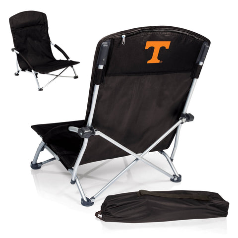 Tennessee Volunteers Tranquility Portable Beach Chair in Black