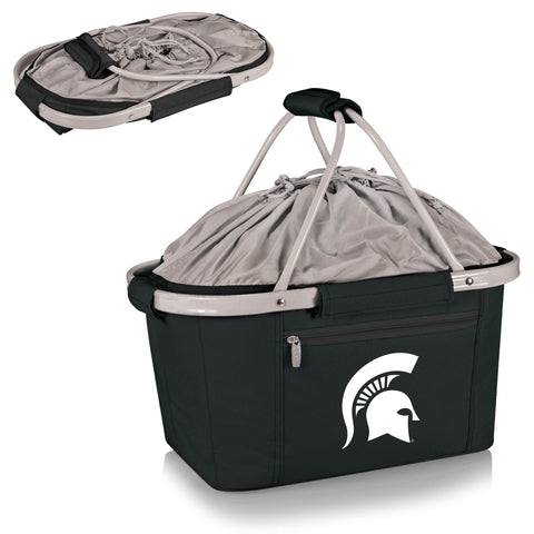 Michigan State Spartans Metro Basket Collapsible Tote in Black