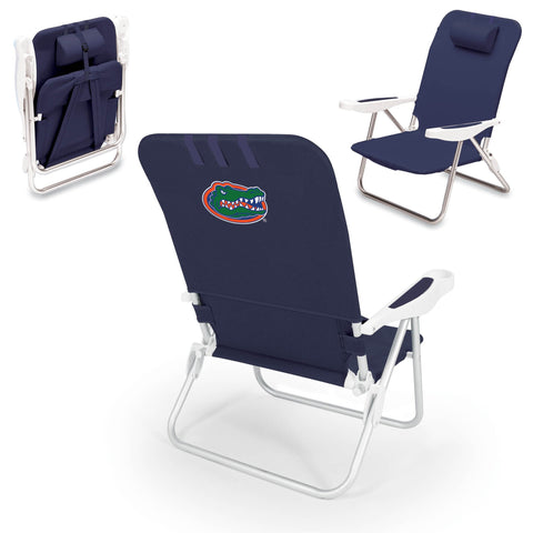 Florida Gators Monaco Portable Beach Chair in Navy