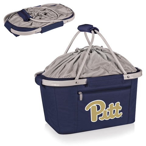 Pittsburgh Panthers Metro Basket Collapsible Tote in Navy