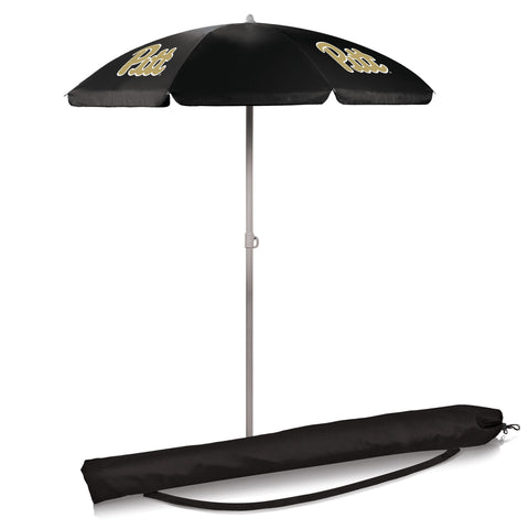 Pittsburgh Panthers 5.5' Portable Beach/Picnic Umbrella in Black