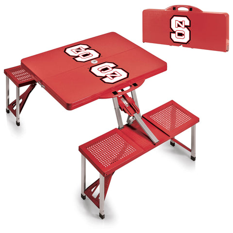 NC State Wolfpack Portable Picnic Table in Red