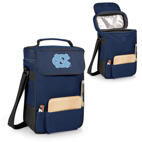 North Carolina Tar Heels Duet Wine and Cheese Tote in Navy