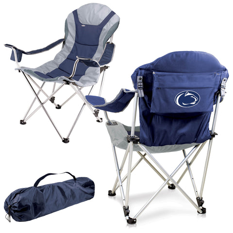 Penn State Nittany Lions Reclining Camp Chair in Navy