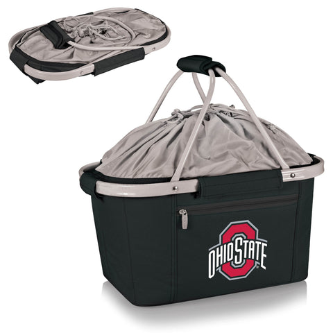 Ohio State Buckeyes Metro Basket Collapsible Tote in Black