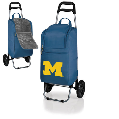 Michigan Wolverines Cart Cooler in Navy