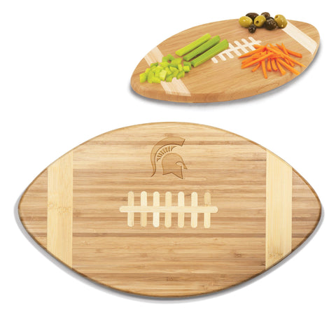 Michigan State Spartans Touchdown! Bamboo Cutting Board