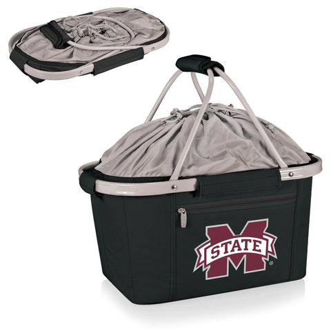 Mississippi State Bulldogs Metro Basket Collapsible Tote in Black
