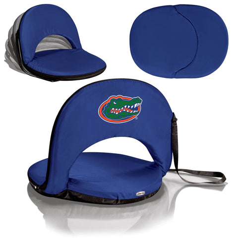Florida Gators Oniva Seat Portable Recliner Chair in Navy