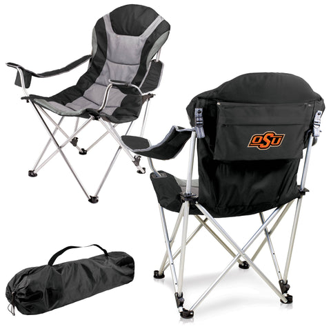 Oklahoma State Cowboys Reclining Camp Chair in Black