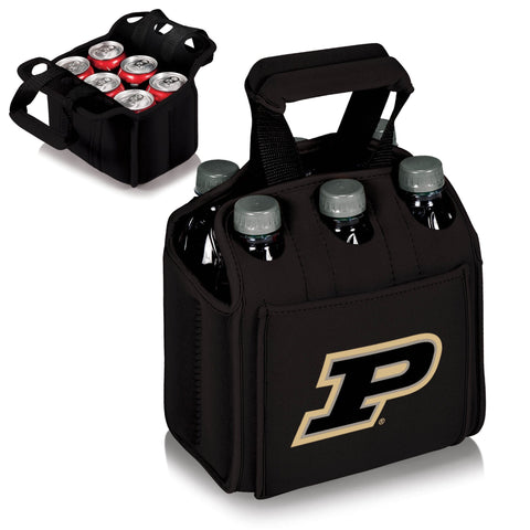 Purdue Boilermakers Six Pack Beverage Carrier in Black