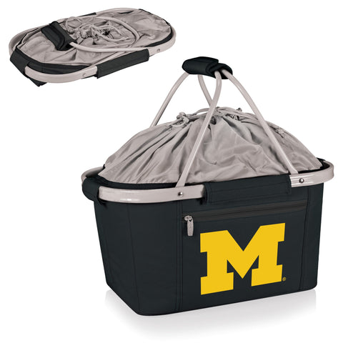 Michigan Wolverines Metro Basket Collapsible Tote in Black