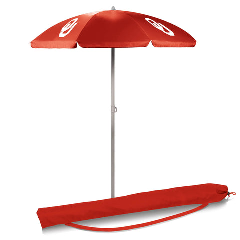 Oklahoma Sooners 5.5' Portable Beach/Picnic Umbrella in Red