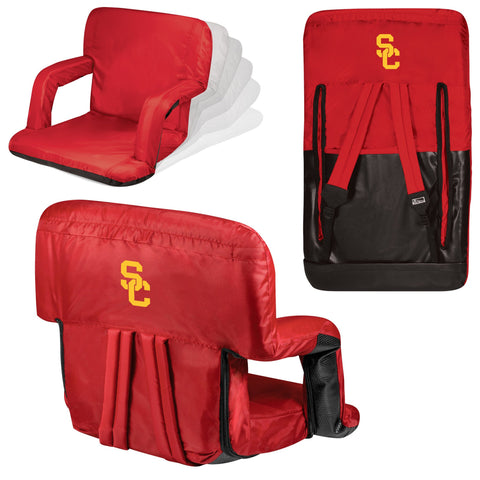 USC Trojans Ventura Seat Portable Recliner Chair in Red