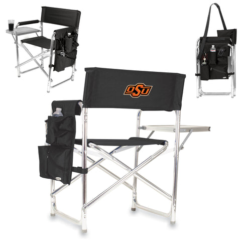Oklahoma State Cowboys Sports Chair in Black