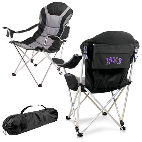 TCU Horned Frogs Reclining Camp Chair in Black
