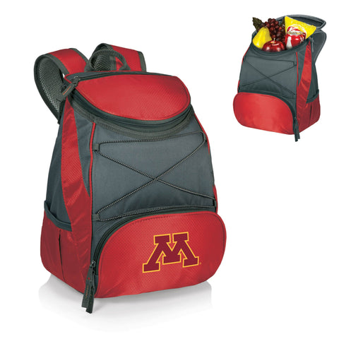 Minnesota Golden Gophers PTX Backpack Cooler in Red