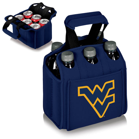 West Virginia Mountaineers Six Pack Beverage Carrier in Navy