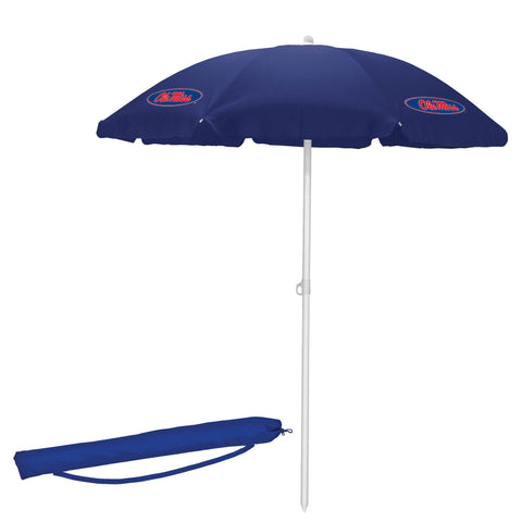 Ole Miss Rebels 5.5' Portable Beach/Picnic Umbrella in Navy
