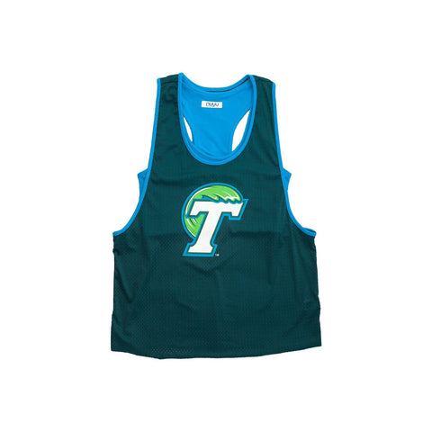 Tulane University Mesh Tank with Attached Sporty Bralette