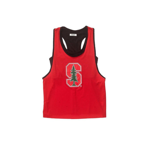 Stanford University Mesh Tank with Attached Sporty Bralette