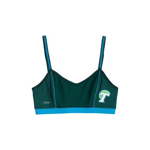 Tulane University Sporty Bralette with Back Straps