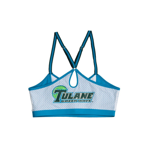 Tulane University Sporty Bralette with Keyhole