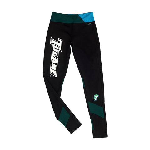 Tulane University Yoga Legging with Mesh Insert