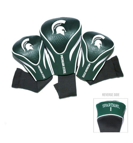 Michigan State Spartans 3 Pack Contour Head Covers