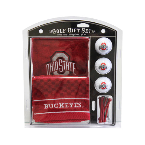 Ohio State Buckeyes Embroidered Golf Towel, 3 Golf Ball, and Golf Tee Set