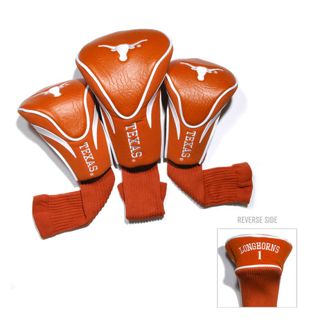 Texas Longhorns 3 Pack Contour Head Covers