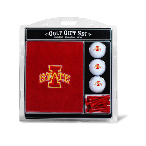 Iowa State Cyclones Embroidered Golf Towel, 3 Golf Ball, and Golf Tee Set